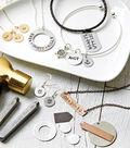 Silver & Leather Hand Stamped Bracelet