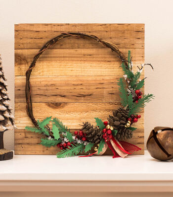 How To Make A Pinecone and Holly Twig Wreath