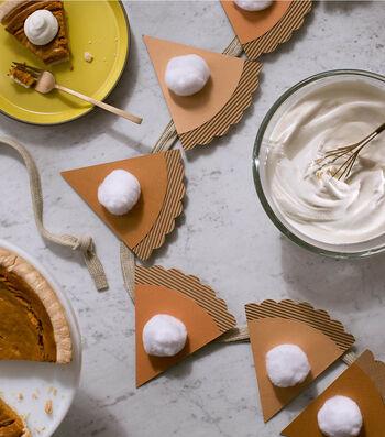 How to Make a Pumpkin Pie Garland