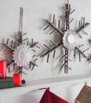 How To Make Twig Snowflakes Medallions