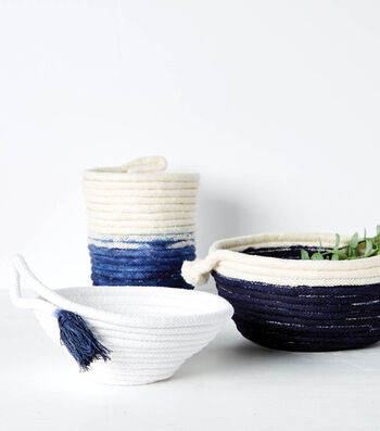 How To Make Dyed Rope Bowls