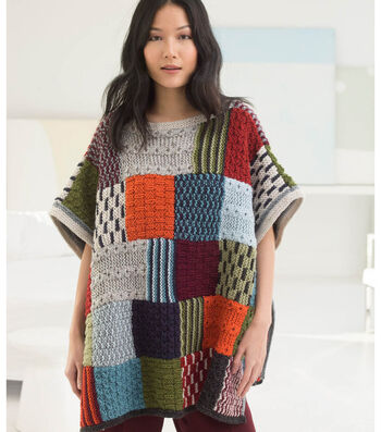 How to Knit a Patchwork Poncho