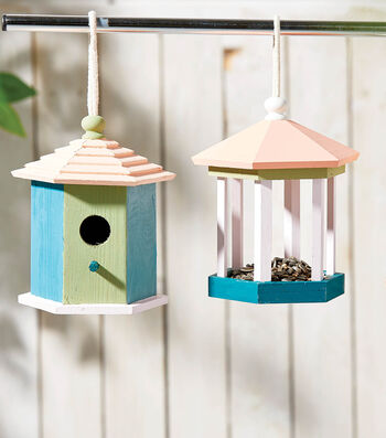 How to Make Painted Birdhouses