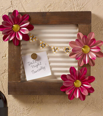 How To Make A Flower Message Board