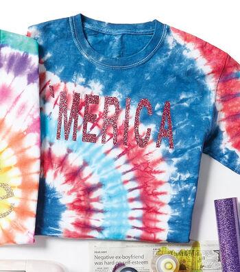 Make A Patriotic Scrunch Tie-Dye T-shirt
