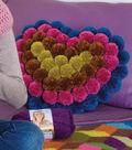 Heart Shaped Pom-Pom Pillow