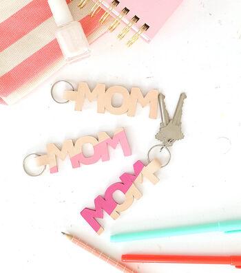 Make A Leather Mom Keychain