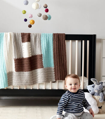 How To Make A Log Cabin Crochet Baby Blanket