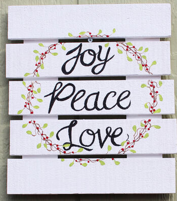 How To Make Joy Peace Love Wood Sign