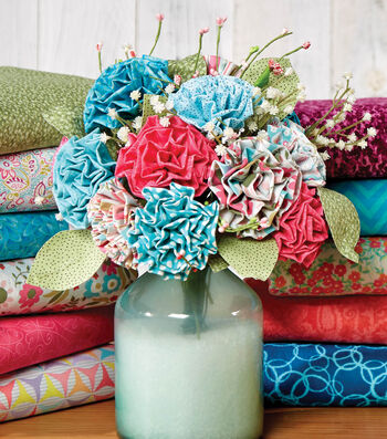 Fabric Flowers and Leaves