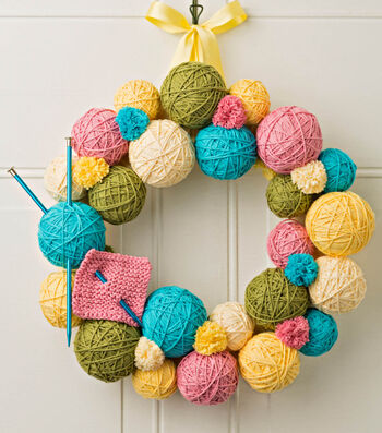 How To Make A Yarn Ball Wreath