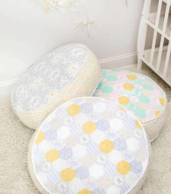 Learn to sew Daisy Kingdom Round Floor Pillow