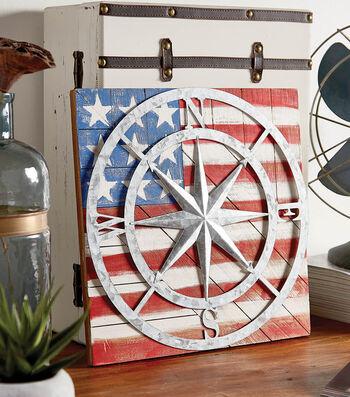 Make A Wooden Flag Compass Plaque