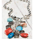 Ball Chain Cluster Front Closure Necklace