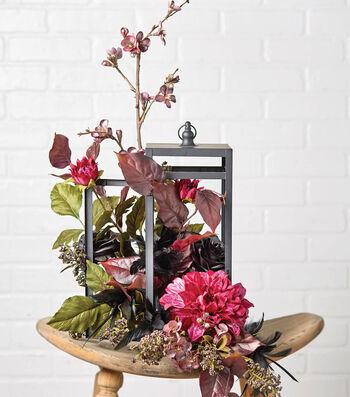 Floral Arrangement in Small Lantern