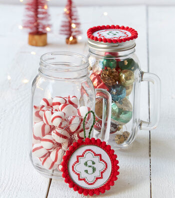 How To Make A  Monogram Ornaments/Hot Chocolate Jar Topper