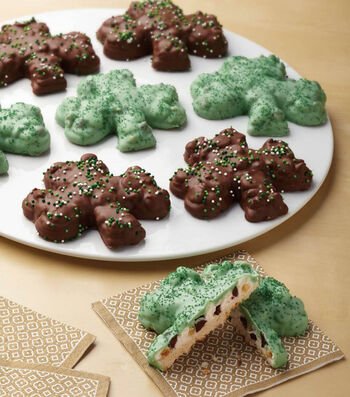 Shamrock Cookies Filled and Dipped
