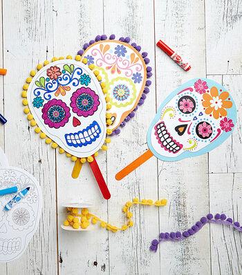 Sugar Skull Printable Masks