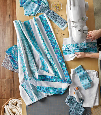 """How To Make A Striped Baby Quilt (40"""" x 60"""")"""
