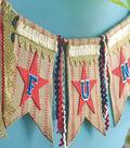 Idea Market Patriotic Burlap Banner