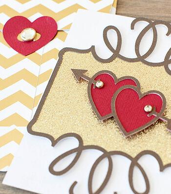 Make A Valentine Gold Card & Envelope