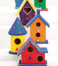 Bright Painted Birdhouses