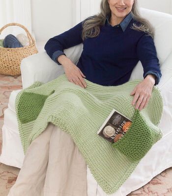 How To Knit A Lapghan With Pockets