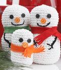 Snow Man Family Amigurumi