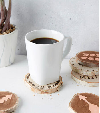 How to Make Painted Birch Coasters