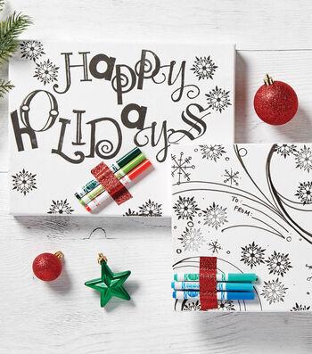 Printable Coloring Giftwrap