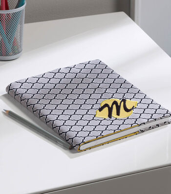 Make A Monogrammed Notebook Cover