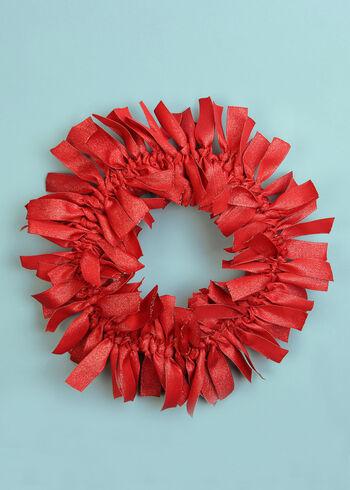 Glitz Ribbon Wreath