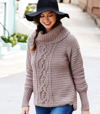 How To Crochet An Entwined Chic Cable Sweater