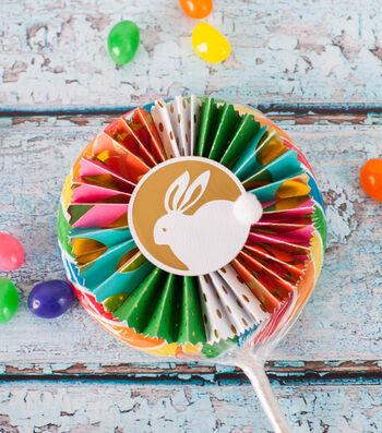 How To Make An Easter Lollipop Rosette