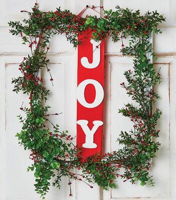 How To Make  A Joy Wreath