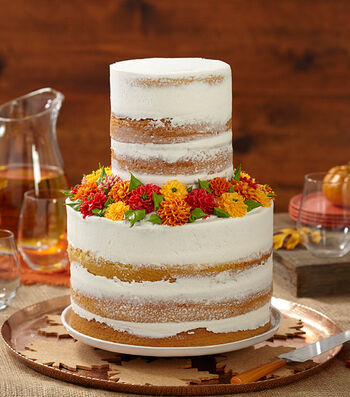 Make A Mums the Word Naked Cake