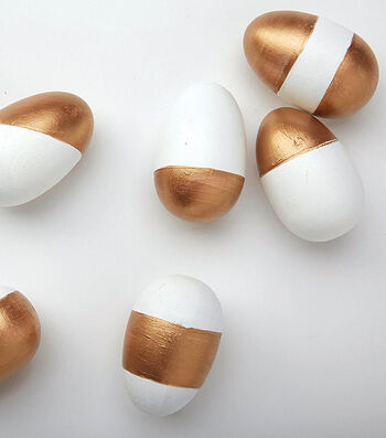 Gold & White Painted Eggs