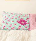 Stonehill Collection Flower Applique Pillow