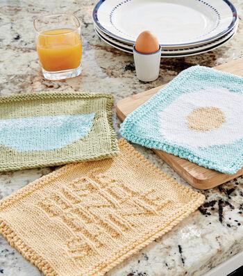 Make A Breakfast Dishcloth Knit Trio