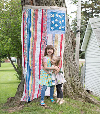 How To Make A 4th Of July Flag Backdrop