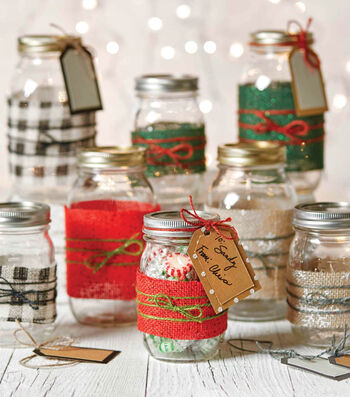 How To Make Embellished Canning Gift Ball Jars