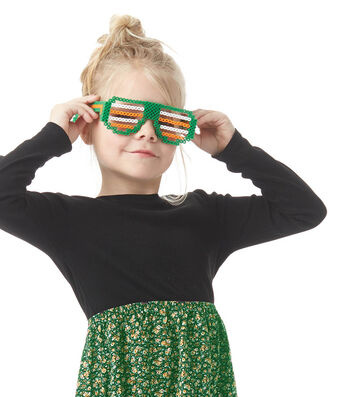 How To Make St. Patrick's Day Dimensional Perler Bead Sunglasses