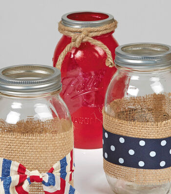 Painted Ball Jar with Star