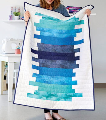 How To Make A Blue Varigated Quilt