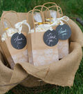Round Chalkboard Labeled Favor Bags