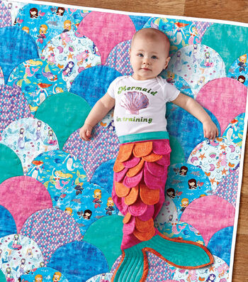 How To Make A Mermaid Quilt and Baby Outfit