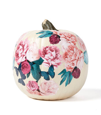 How To Make A Floral Paper Pumpkin