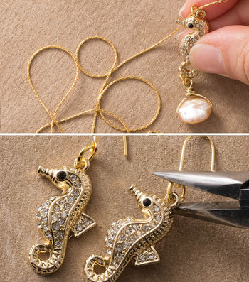 Make Seahorse Necklace and Earrings