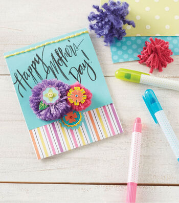 Folded Pompom Mother's Day Card