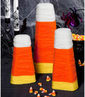 Candy Corn Wrapped Cones